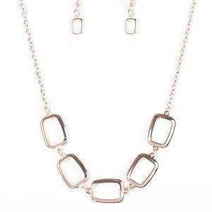 Gorgeously Geometric - Rose Gold Necklace